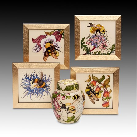 Bees Plaques by Rachel Bishop BA (Hons) of Moorcroft