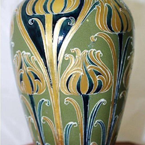 Green & Gold Vase