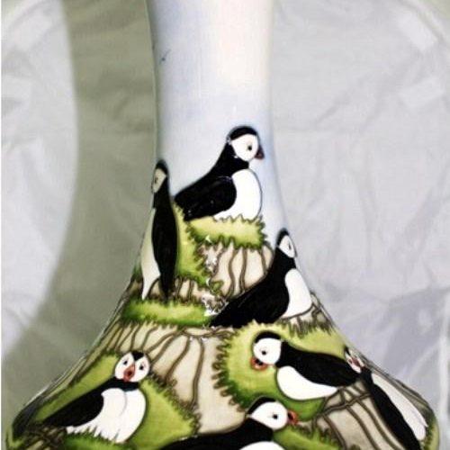 Puffins Vase