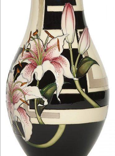 Stargazer Lily designed by Vicky Lovatt of Moorcroft